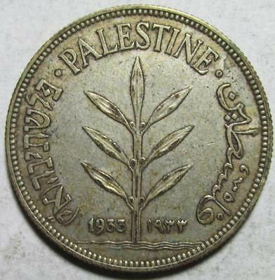 Palestine, 100 Mils, 1933, Very Fine-Extra Fine, Better Date, .27 Ounce Silver