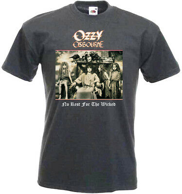 Ozzy Osbourne No Rest For The Wicked T-shirt graphite all sizes S...5XL