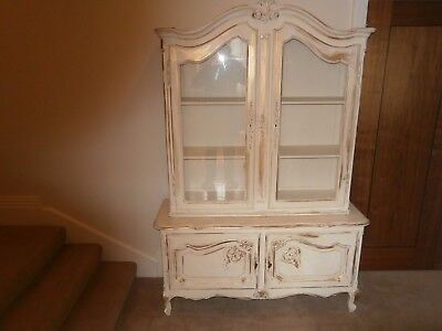 Shabby chick French Vitrine Bookcase Display cabinet