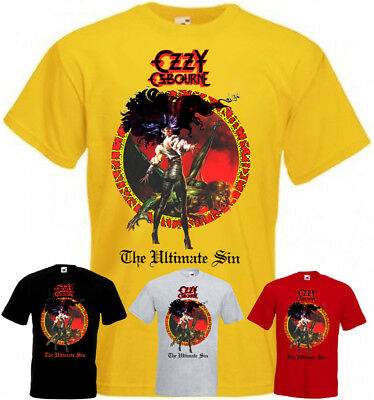 Ozzy Osbourne The Ultimate Sin v3 T-shirt black yellow red all sizes S...5XL