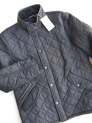 NWT BARBOUR POWELL Black Quilted Jacket Men's Size XL MSRP $299