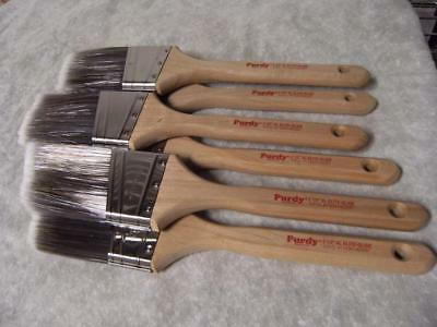 """PURDY paint brush lot of 6 XL Elite glide  2.5"""". No covers. New. Great feedback!"""