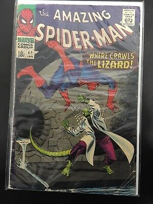 Amazing Spider-Man #44 - Marvel 1967 - VG - Pence - 2nd App The Lizard