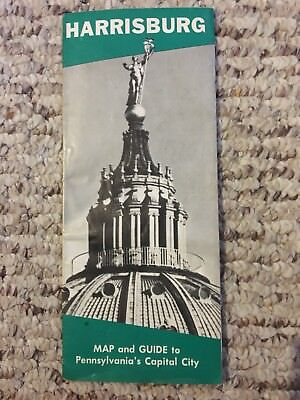 Vintage Harrisburg Pennsylvania City Map & Guide 1957