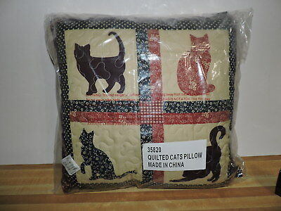 Quilted Cats Pillow Nip