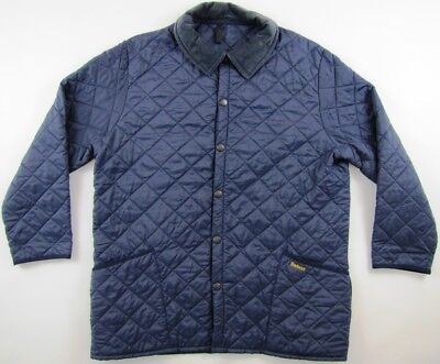 Barbour D349 Liddesdale navy blue quilted insulated padded nylon jacket mens XL