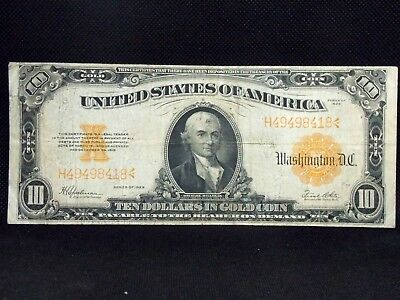1922 $10 GOLD CERTIFICATE Fr# 1173 Speelman/White East Coast Coin & Collectables