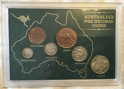 Australian Pre Decimal Coin Set, All In Good Condition Never Opened