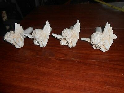 Vtg Antique Architectual ANGELS Lot of 4, Knobs or > Screw In