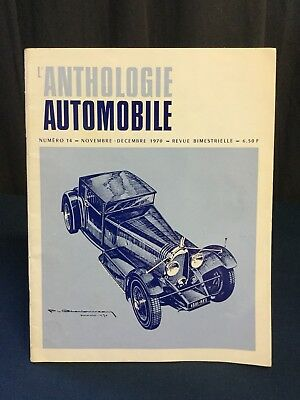 Rare Revue 1970 Anthologie Automobile Designer Ph. CHARBONNEAUX