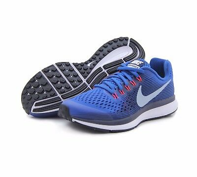 size 40 c8be1 099af NEW NIKE ZOOM Pegasus 34 Kid's Size 6.5Y - Blue Black Silver Running  881953-401