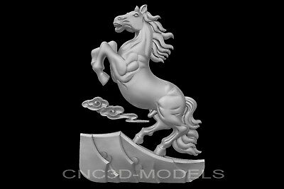 3D Model STL for CNC Router Engraver Carving Artcam Aspire Horse Decor Pano g560