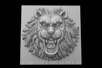 3D Model STL for CNC Router Engraver Carving Artcam Aspire Lion Decor Pano g564