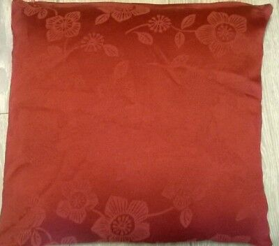 "cushion covers red floral 17"" x 17"" approx , NEW RED"