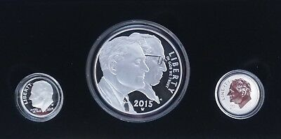 2015 March of Dimes Special Silver Set w/2 key date dimes; only 74,430 minted!