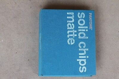 Pantone Color Solid Chips Matte Book Perforated Cards Graphic Design Pre-Owned