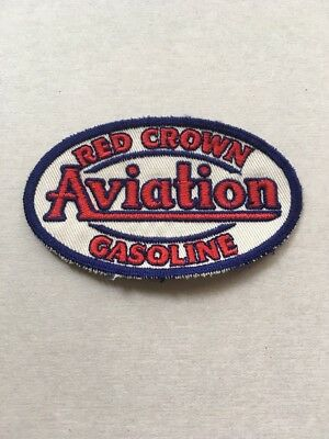 1930-40's  RED CROWN AVIATION GASOLINE - RARELY SEEN - SEW ON