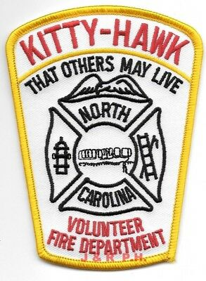 "fire patch North Carolina 1963  Fire Dept. 4/"" x 4.5/"" size Severn"