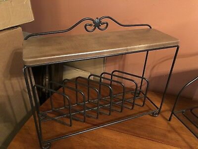LONGABERGER FOUNDRY Wrought Iron Countertop Plate Dish Rack - Used ...