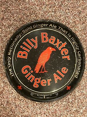 *RARE ADVERTISING* Tin Tray *GINGER ALE* Old Original *BEER COLA* Billy Baxter