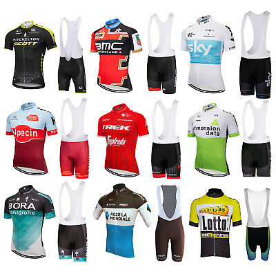 2018 Sports Team Cycling Bike Bicycle Clothing Jersey Shirts Bib Paded Short Set