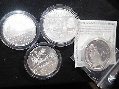 D66 Slovenia 2010 2x €10 1x €20 &  Malta €10 Silver Commems Total Face 50 Euros