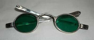 Antique Sterling Silver Folding Eyeglasses Spectacles Sun Glasses English