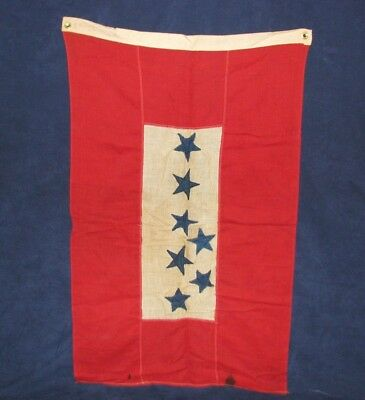 WWI WWII US 7 Star Town Sons in Service Flag Oley Pa. 2' x 3' Samson Bunting