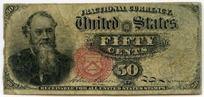 FRACTIONAL CURRENCY 4th ISSUE EDWIN STANTON FIFTY CENTS CIVIL WAR