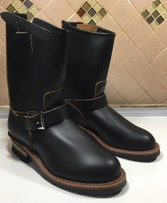 """Red Wing 2966 Engineer Boots Black """"Klondike""""  Leather Men's Size 7.5D  **RARE**"""