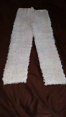 Fantasia White Mid Length Lacy Pettipants Square Dance Size 38 Medium 23 Layers