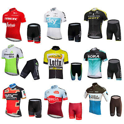 2018 Sports Team Cycling Bike Clothing Jersey Shirts Padding Short Kits