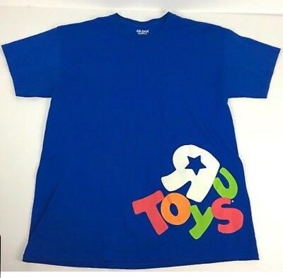 Toys R Us Employee T Shirt Mens Size Large Blue C'mon Lets Play