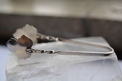 Vintage Sterling Silver .925 Sugar Candy Tongs Raimond Maple Leaf 9.6 Grams