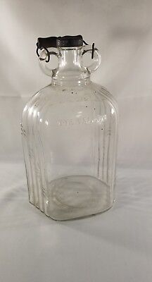 Vintage Glass One Gallon Jug Jar Container 87834