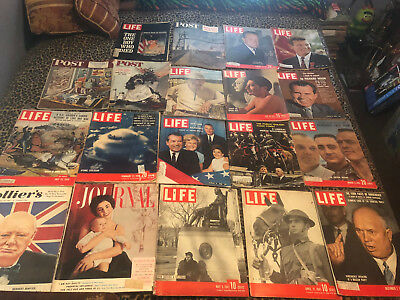 Life Magazine Lot of  19     Vintage Ads  1940 AND 50S AND 60S