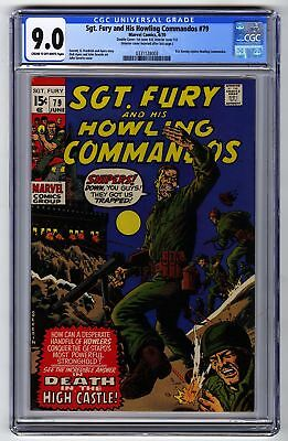 Sgt Fury & His Howling Commandos 79 CGC 9.0 HIGH GRADE Marvel Comic Double Cover