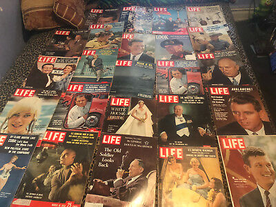 Life Magazine Lot of  24 Vintage Ads  1940 AND 50S AND 60S