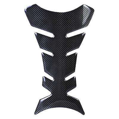 3D Black Rubber Motorcycle Modified Fuel Gas Tank Pad Protector Decal Sticker
