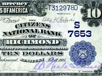 HGR SUNDAY 1902 $10 RARE Richmond KY ((Finest Known)) Appears GEM UNCIRCULATED