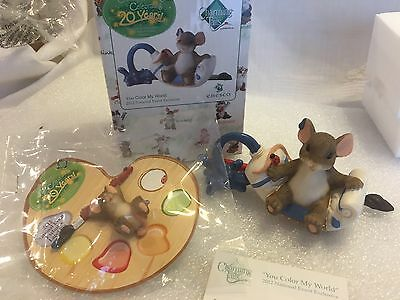 """Charming Tails """"You Color My World"""" DEAN GRIFF NIB Signed With Pin"""