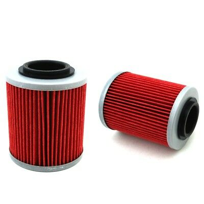 2x Oil Filter For CAN-AM Maverick Max 1000 1000R APRILIA RSV MILLE 998 RST1000