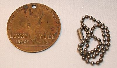 Lucky Mule Trace Chains Cleveland,Ohio Chain. Prod Co. - Bronze Good Luck Medal!