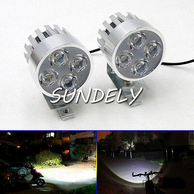 12-85V Electric Motorcycle LED Headlight Driving Fog Spot Work Light Lamp FAST