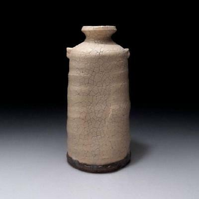 SR1: Japanese Vase, Hagi Ware by Famous potter, Seigan Yamane, Height 6.5 inches