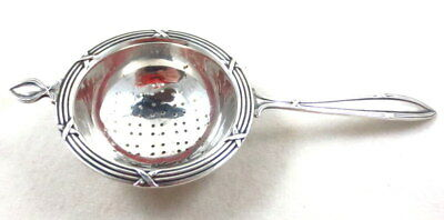 """Antique Frank M Whiting Sterling Silver Tea Strainer #4993 5 1/2"""" L"""