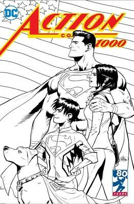 Action Comics 1000 Patrick Gleason Exclusive B&w Sketch Variant Nm