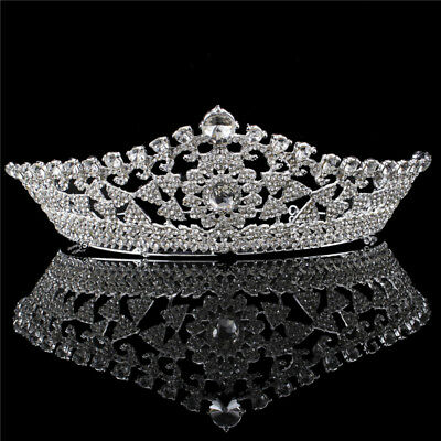 2.6inch High Large Crystal Wedding Bridal Party Pageant Prom Tiara Crow