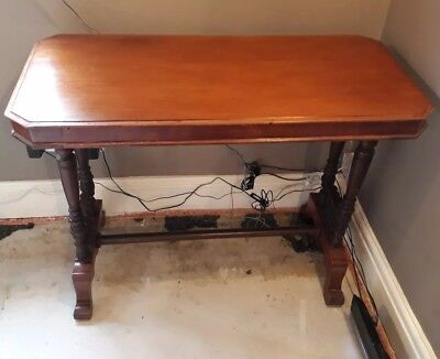 Mahogany style reproduction vintage hall table