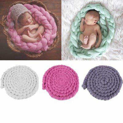 Newborn Photography Props Photo Blanket Cute Baby Posing Knitting Wool Blanket C